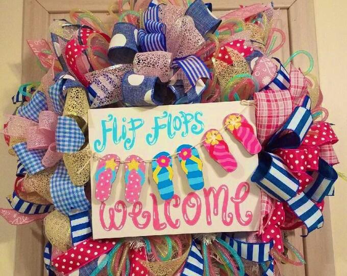 Flip Flop Summertime Wreath