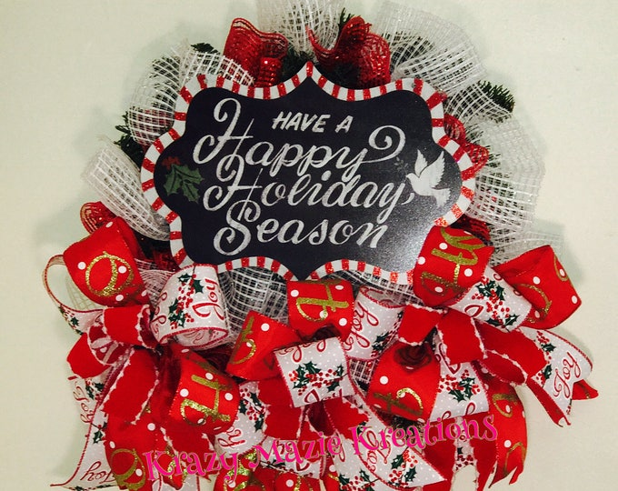 Have a Happy Holiday Season Wreath