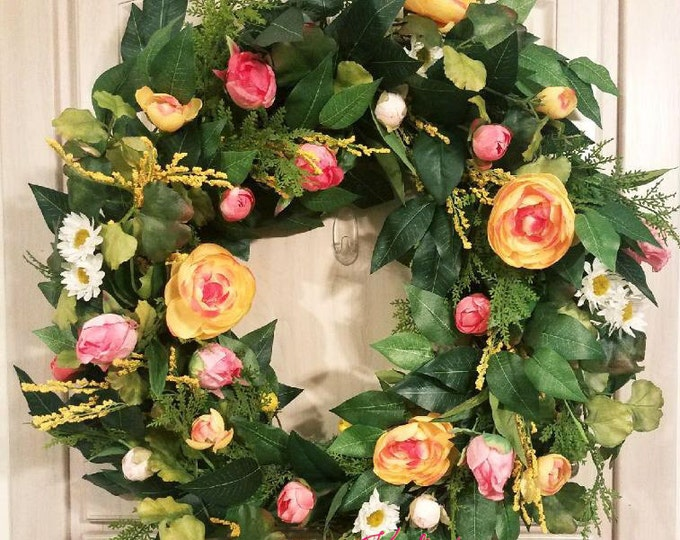 Spring/Summer Floral Wreath