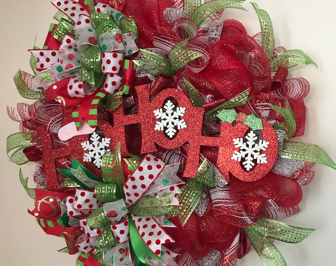 HoHoHo Christmas Wreath