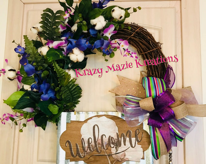 Wild Flowers Welcome Wreath