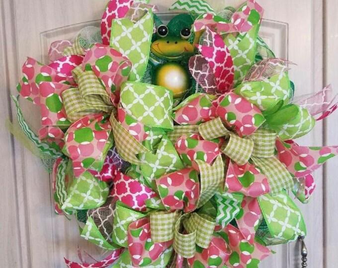 Spring/Summer Frog Wreath
