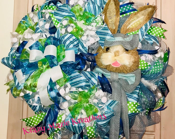 Peter Rabbit Easter Wreath