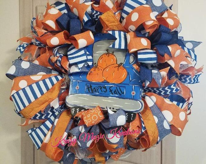 Happy Fall Turck Wreath