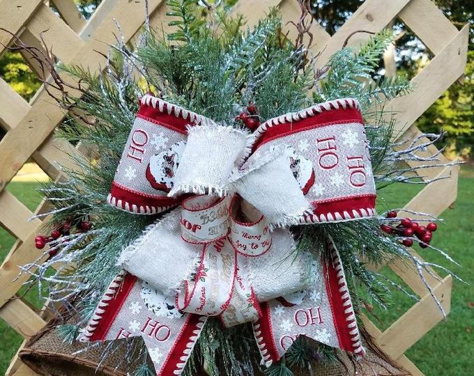 Burlap Holiday Bells, Burlap Bells, Holiday Door Hanger, Burlap Door Hanger