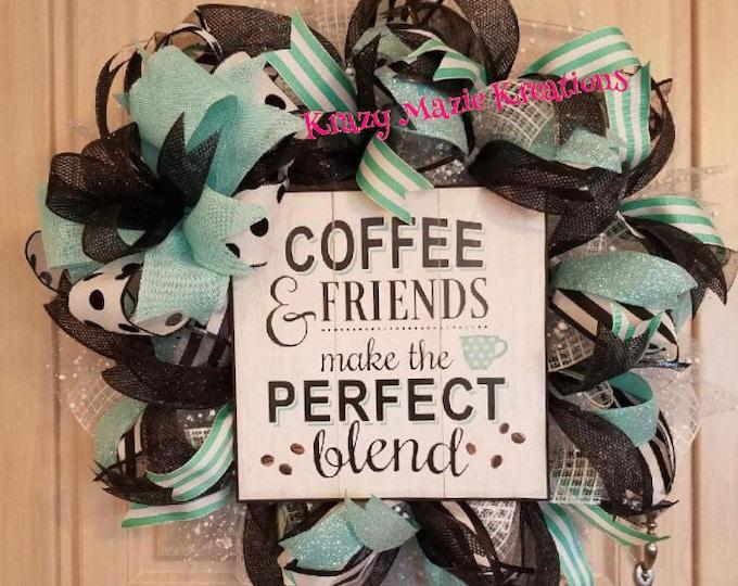 Coffee & Friends Wreath