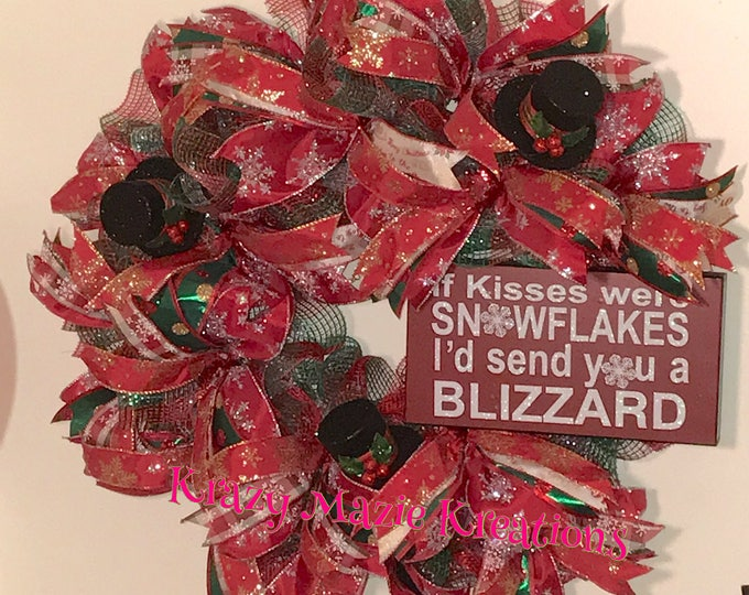 Snowflakes/Blizzard Christmas Wreath