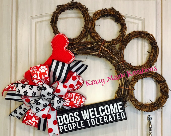 Dog Paw Wreath