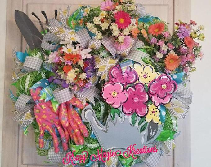 Planting a Garden Wreath