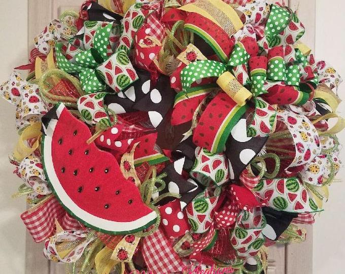Summer Watermelon Wreath