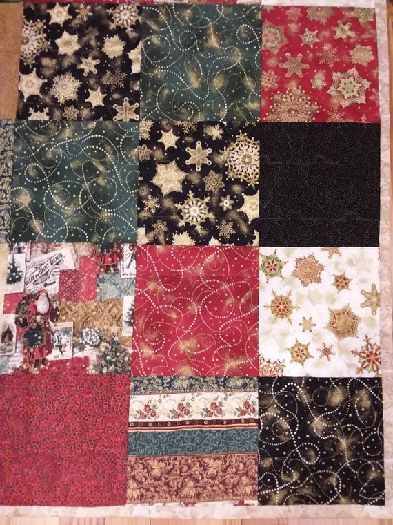 Christmas Throw Blanket.Christmas Throw Blanket Handmade Longarm Quilted Perfect Gift Christmas Gift