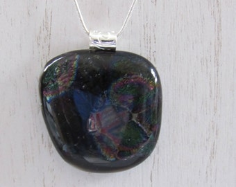 Sale;Dichroic Pendant; Dichroic Jewelry; Fused Glass Pendant; Fused Glass Jewelry/PDM