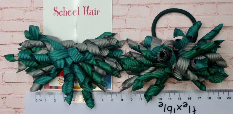 pair 3 inch Hunter green and Grey Corkers on Elastics