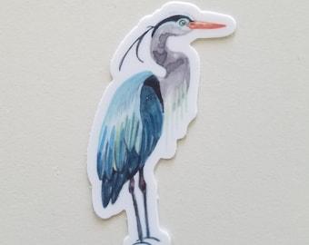 Great Blue Heron Die Cut Vinyl Sticker