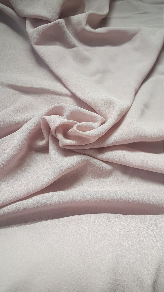 Dusky pink silk chiffon sheer floaty fabric perfect for bridesmaids prom christening dresses wedding high quality