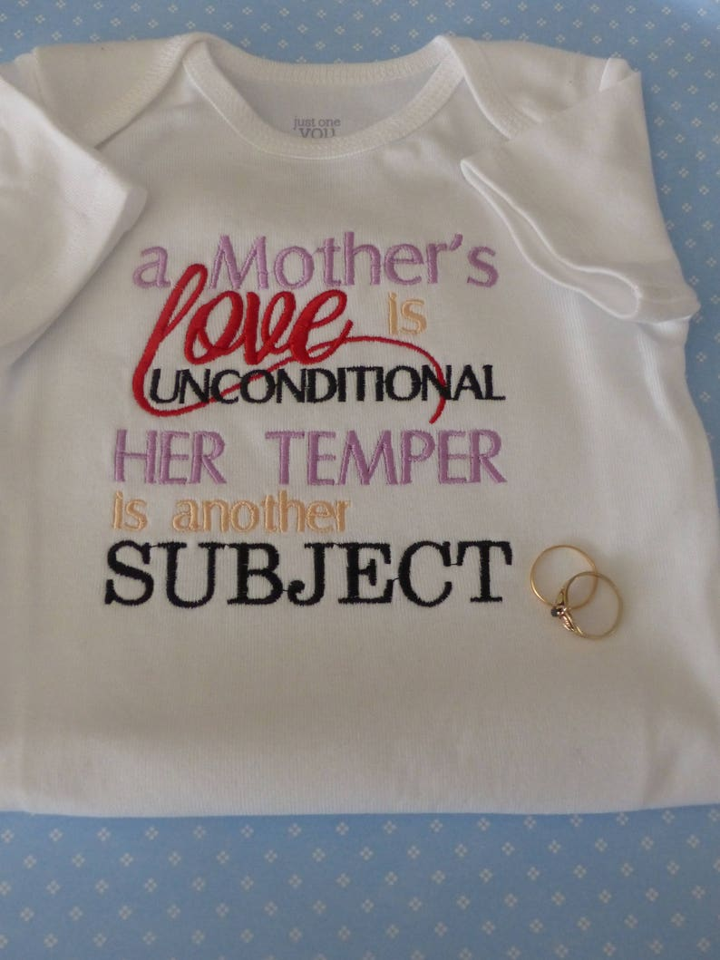 Mothers Love Is Unconditional Baby Grow Outfit.