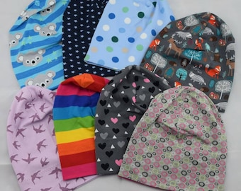 Self-sewn / Handmade Beanie - large fabric selection from KU 39 cm to 58 cm