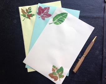 leaves stationery etsy