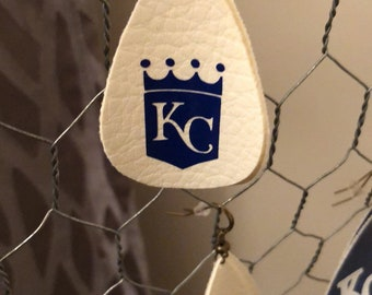 KC leather earrings