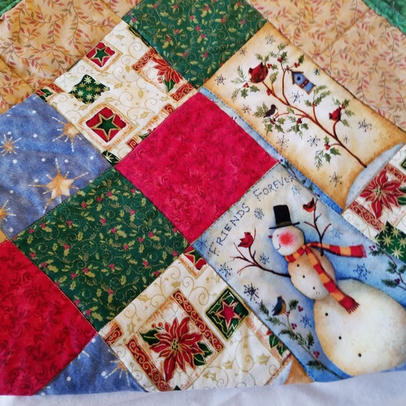 Snow Time Joy Point Table Runner, Christmas Table Decoration, Holiday Table Runner