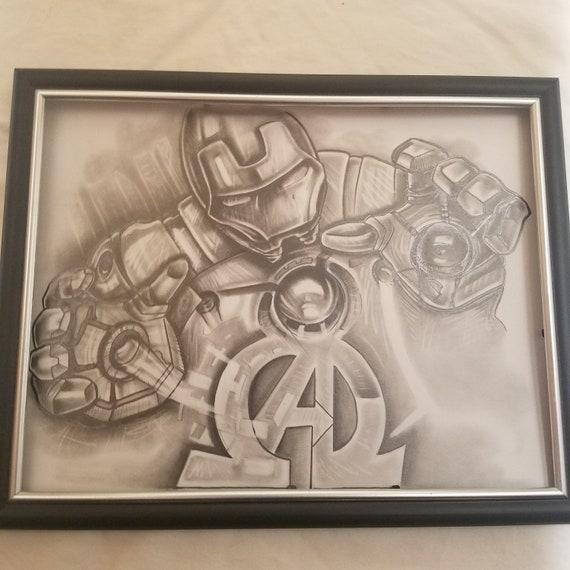 Iron Man Fan Art, graphite, Avengers,Artwork