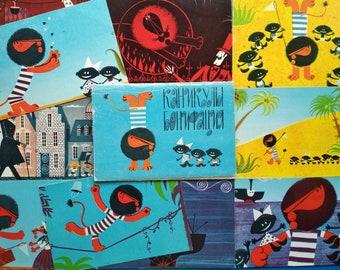 Boniface's Holiday Card Boniface's vacation Soviet animation folk tale Fairy Tales Kanikuly Bonifaciya Hitruk Soviet postcard Soyuzmultfilm