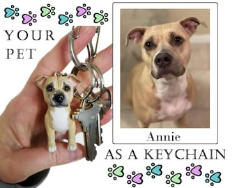 Custom Pet Keychain, Personalized Pets, Pet Portraits, Polymer Clay Pets, Pet Lovers Gift, Personalized Gift Idea, Pet Owner Gift, Mini Pets