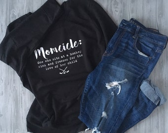 Momcicle: One who sits at a hockey rink and freezes for the love of her child hooded sweatshirt
