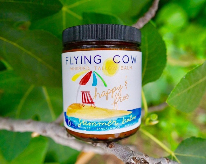 Featured listing image: 8oz Limited Edition, Happy and FREE Summer Tallow - Orange, Bergamot & Sandalwood