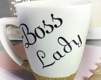 Boss Lady Mug/ Boss Lady Coffee Mug/ Gift For a Boss