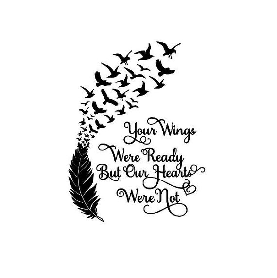 Your Wings Were Ready But Our Hearts Were Not Box Frame Etsy