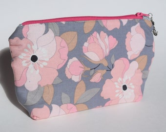 Flora Cosmetic Bag, Zippered Pouch, Make Up Bag
