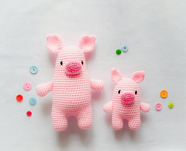 crochet pig piglet super soft pig READY to SHIP