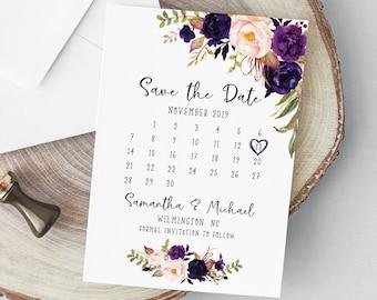 Savethedate calendar | Etsy