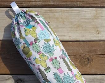 Cactus Grocery Bag Holder, Plastic Bag Holder, Shopping Bag Holder, Hanging Plastic Bag Holder, Grocery Bag Dispenser