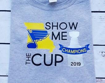 ccd3e709b73 Stanley Cup Champions, St. Louis Blues T-shirt