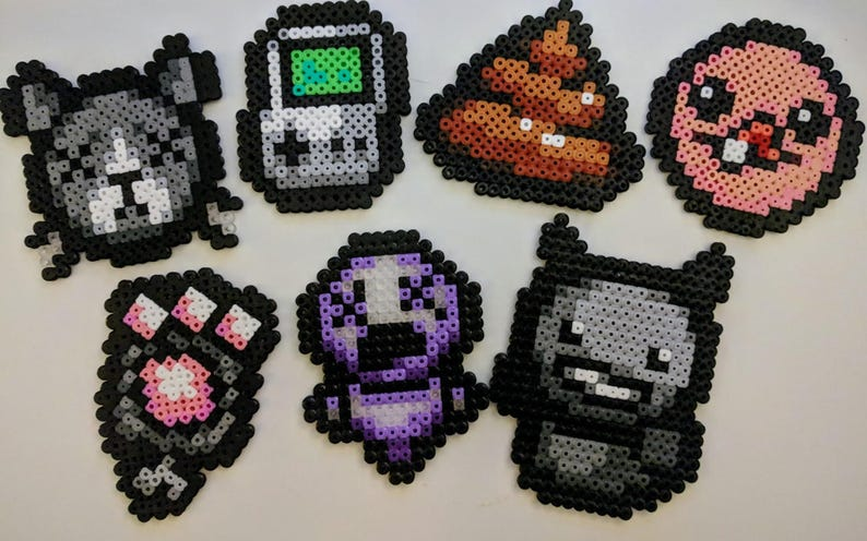 Binding of Isaac items/objects made of iron beads magnet image 0