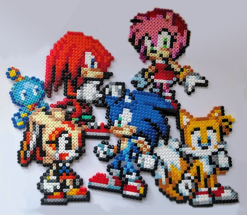 Sonic Tails Knuckles Cream & Chao Amy rose from Temple image 0