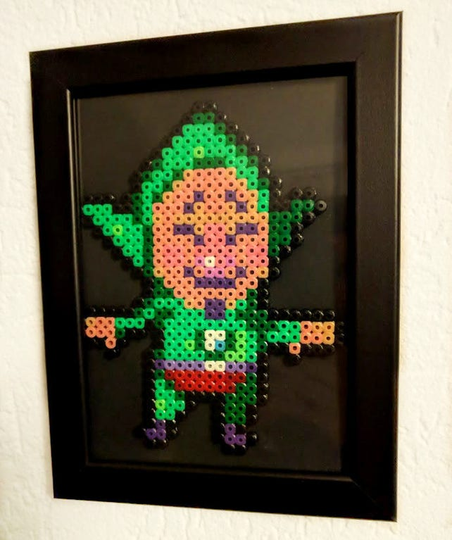 Tingle The Legend of Zelda aus Bügelperlen mit Rahmen | Etsy