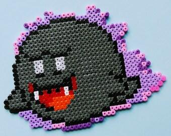 Boo / Buu Huu / Teresa from Ironing Beads, Super Mario, Pokemon, Switch, Wii, WiiU, 3DS, Nintendo, Perler, Stand