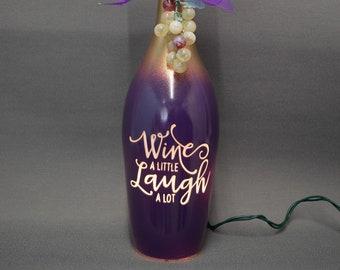 Wine a Little Wine Bottle Lamp