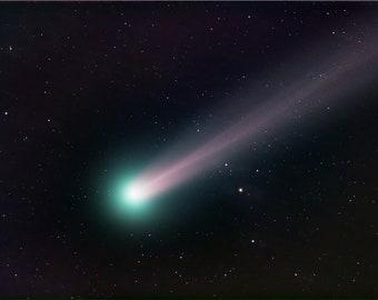 Original Comet Lovejoy Astronomy Image Printed on Vivid Metal