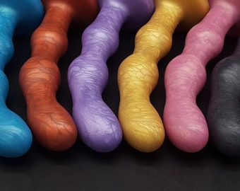 "The ""Trois Boutons"" Three Knobs 7.5 inch Platinum Silicone Dildo  (mature)"