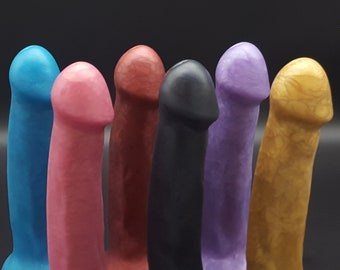 "The Maestro 6.5"" Handmade Platinum Silicone Dildo with Suction Cup (mature)"