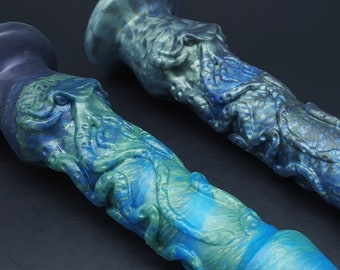 CUSTOM Made to Order, The Cthulhu 10 inch Platinum Silicone Fantasy Dildo (mature)