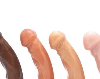 "The Splendid Dual-Density Dildo - Medium Size - ""Sweet Tooth"" Colors"