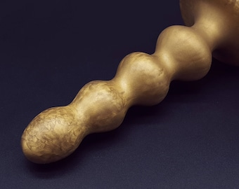 The Metallurgist Gold Quattro Pulsanti 6 inch Platinum Silicone Anal Sex Toy  (mature)