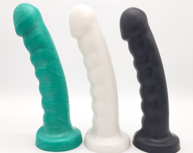 The Senos Platinum Silicone Dildo