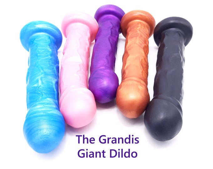 The Grandis 12 inch Giant Platinum Silicone Dildo