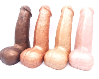 "The Uberous Platinum Silicone Dildo in ""Sweet Tooth"" Semi Realistic Colors"